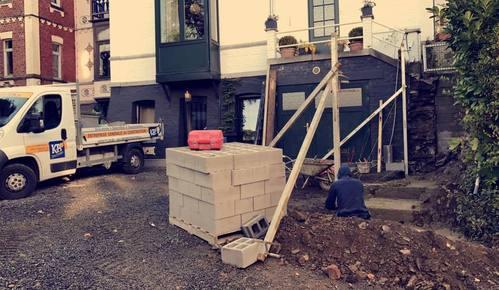KB Construction - Maçon à Theux -  aménagement extérieur
